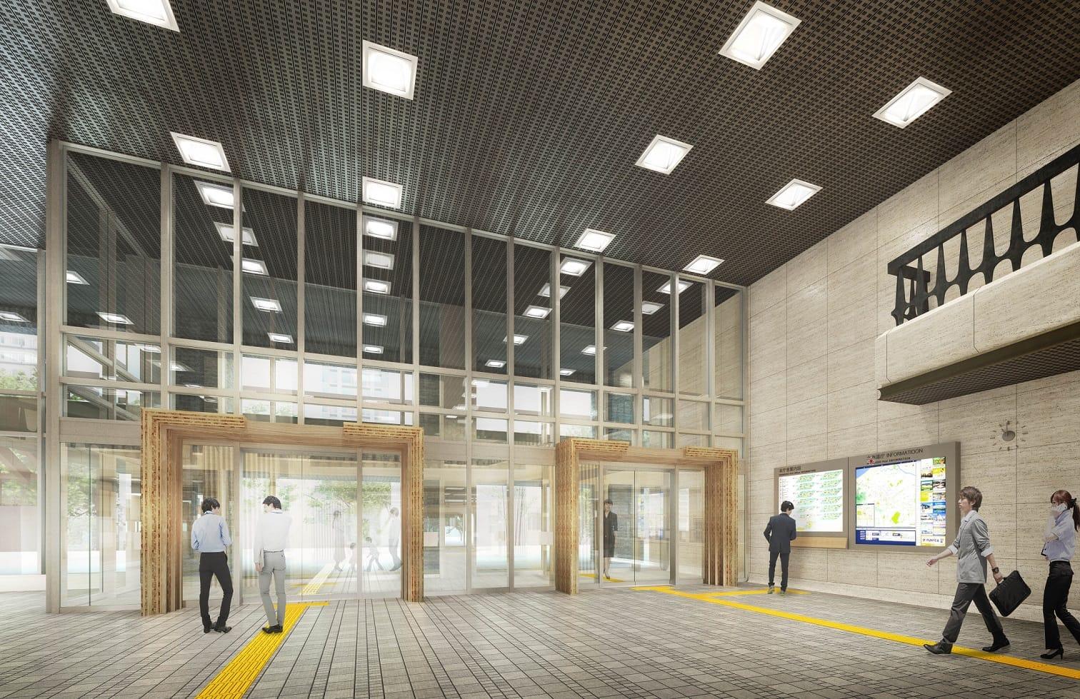 北海道庁玄関ホール木質化